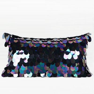 Murrin Oval Sequins Pillow Fill Material: Down/Feather, Product Type: Lumbar Pillow