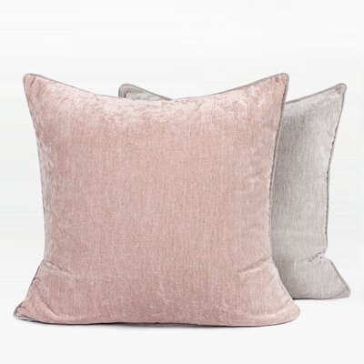 Herren Two Side Pillow Color: Pink/Gray, Fill Material: Polyester/Polyfill, Product Type: Throw Pillow