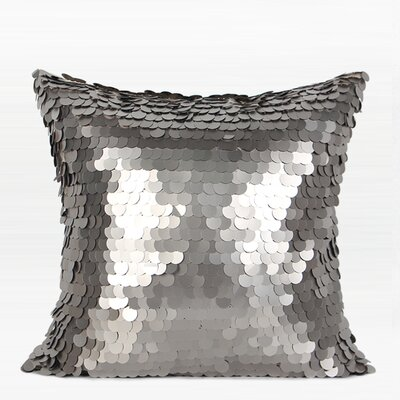 Murrill Round Sequins Pillow Product Type: Pillow Cover, Fill Material: No Fill