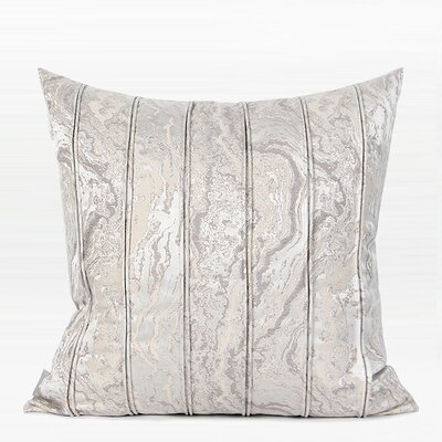 Howze Textured Striped Pillow Color: Light Gray, Fill Material: Down/Feather, Product Type: Throw Pillow