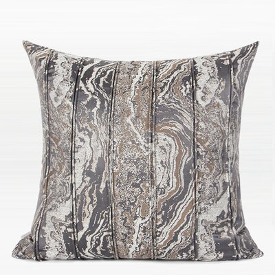 Howze Textured Striped Pillow Color: Dark Gray, Fill Material: Polyester/Polyfill, Product Type: Throw Pillow