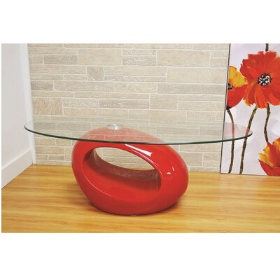 Wendt Coffee Table Table Base Color: Red