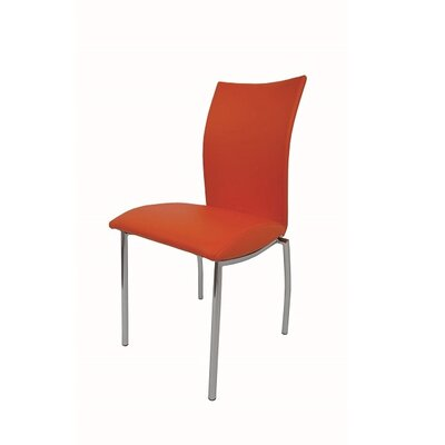 Dutcher Dining Chair (Set of 2) Upholstery Color: Orange