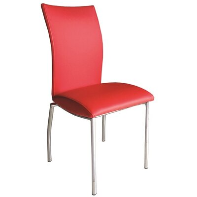 Dutcher Dining Chair (Set of 2) Upholstery Color: Red