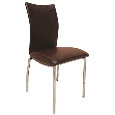Dutcher Dining Chair (Set of 2) Upholstery Color: Dark Brown
