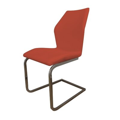 Wendel Dining Chair (Set of 2) Upholstery Color: Red