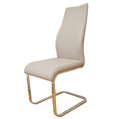 Wendland Dining Chair (Set of 2) Upholstery Color: Champagne