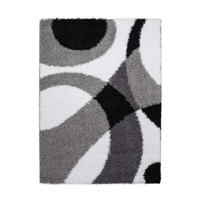 Staten Gray/Black Area Rug Rug Size: Rectangle 53 x 76