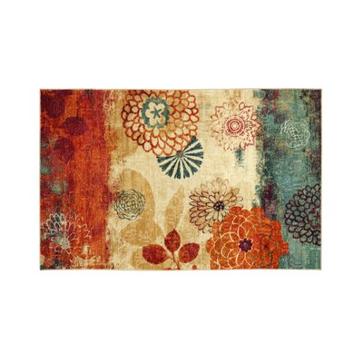 Hellman Beige/Orange Area Rug Rug Size: Rectangle 5 x 8
