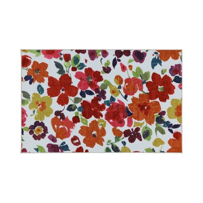 Frailey Orange/White Area Rug Rug Size: Rectangle 7.6 x 10