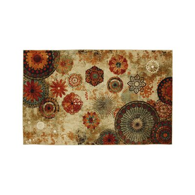 Helmer Beige/Brown Area Rug Rug Size: Rectangle 7.6 x 10