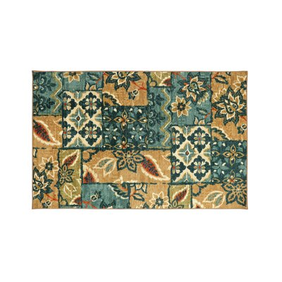 Hellwig Brown/Blue Area Rug Rug Size: Rectangle 7.6 x 10