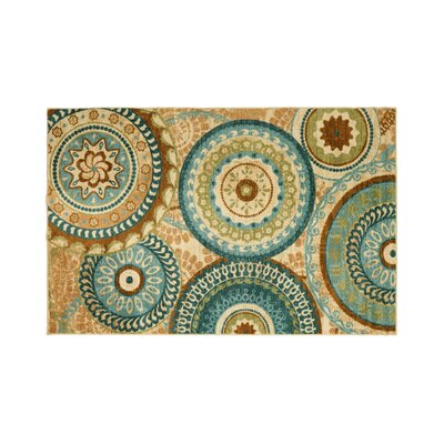 Gaffney Brown/Green Area Rug Rug Size: Rectangle 7.6 x 10