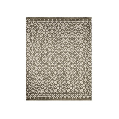 Mowrey Dark Brown/Silver Indoor/Outdoor Area Rug