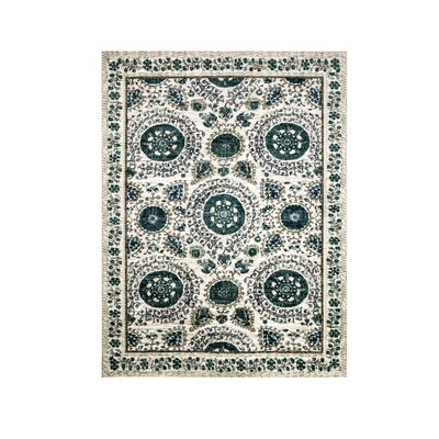 Van Reipen Navy/Ivory Area Rug Rug Size: Rectangle 5 x 8