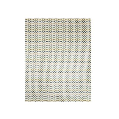 Favela Beige/Green Area Rug Rug Size: Rectangle 8 x 10