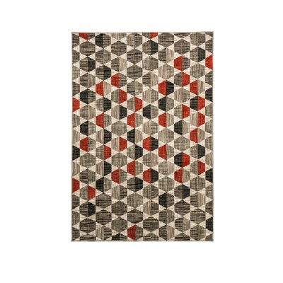 Croxton Gray/Brown Area Rug