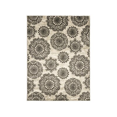 Gaertner Dark Gray/Black Area Rug Rug Size: Rectangle 5 x 8