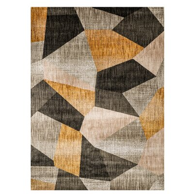Magaw Gray/Yellow Area Rug