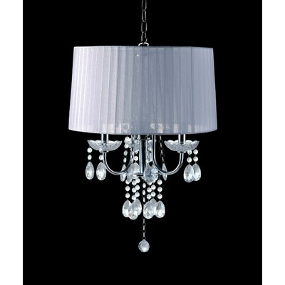 Muldowney Glam Drum Chandelier Shade Color: White