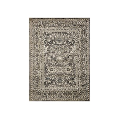 Van Nest Charcoal/Ivory Area Rug Rug Size: Rectangle 5 x 8