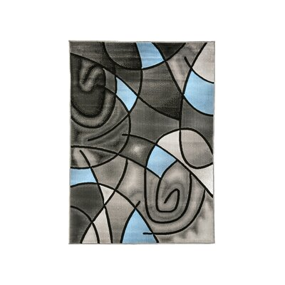 Mahle Charcoal/Blue Area Rug Rug Size: Rectangle 7.9 x 10