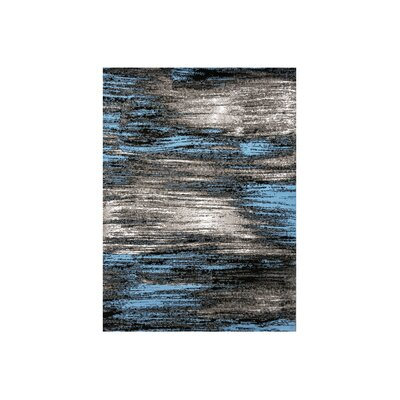 Mahlum Gray/Blue Area Rug Rug Size: Rectangle 7.9 x 10