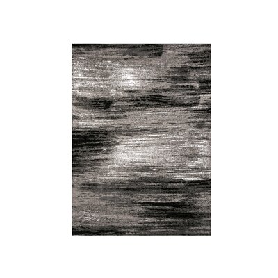 Mahlum Gray/Black Area Rug Rug Size: Rectangle 7.9 x 10