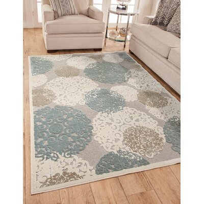 Muldoon Beige/Blue Area Rug
