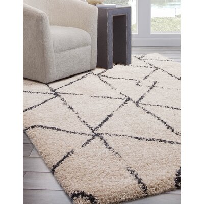 Wiegand Ivory/Black Area Rug