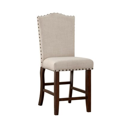 Shepley Studded Trim Rubber Wood 24 Bar Stool