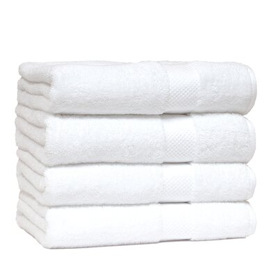 Giltner Luxury Soft Cotton 600 GSM Bath Sheet Color: White