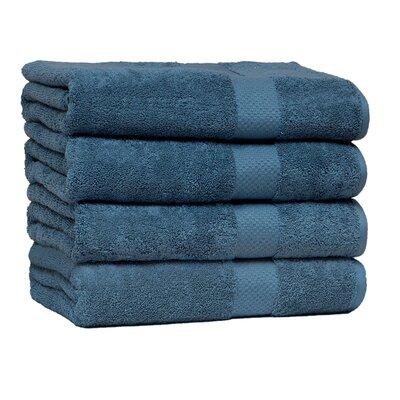 Giltner Luxury Soft Cotton 600 GSM Bath Sheet Color: Blue Stone