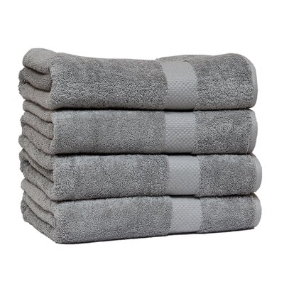 Giltner Luxury Soft Cotton 600 GSM Bath Sheet Color: Silver Gray