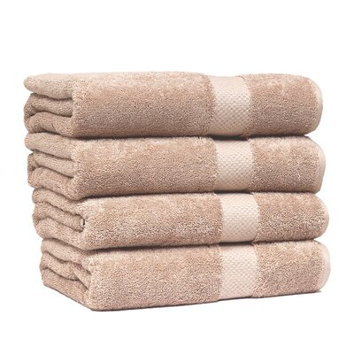Giltner Luxury Soft Cotton 600 GSM Bath Sheet Color: Taupe