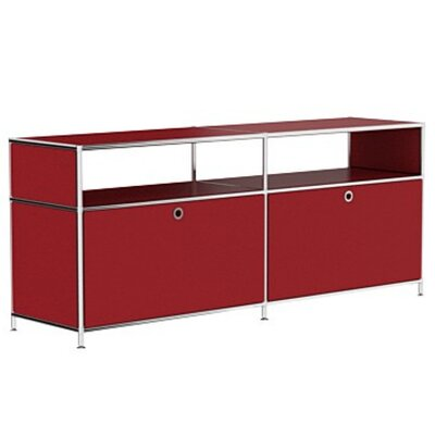 Mapes 59 TV Stand Color: Wine Red