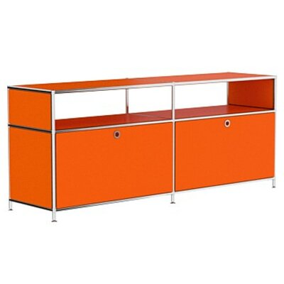 Mapes 59 TV Stand Color: Pure Orange