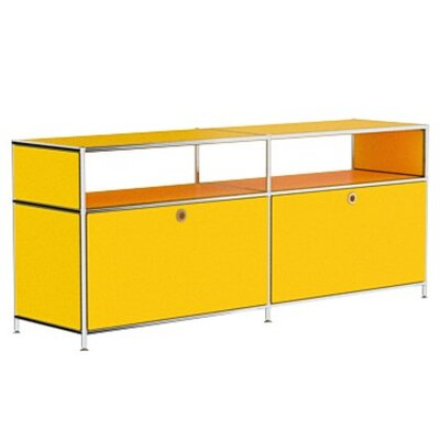 Mapes 59 TV Stand Color: Traffic Yellow