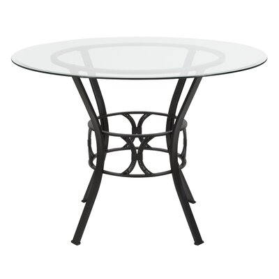 Hardrick Dining Table Base Color: Black, Size: 29.5 H x 48 W x 48 D