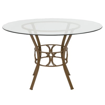 Hardrick Dining Table Base Color: Gold, Size: 29.5 H x 48 W x 48 D
