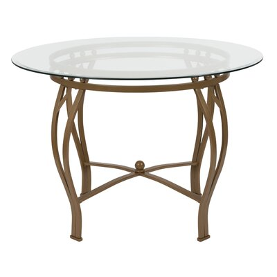 Hardnett Dining Table Base Color: Gold, Size: 29.5 H x 42 W x 42 D