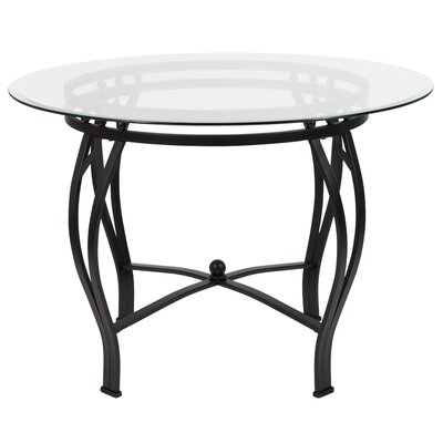 Hardnett Dining Table Base Color: Black, Size: 29.5 H x 45 W x 45 D