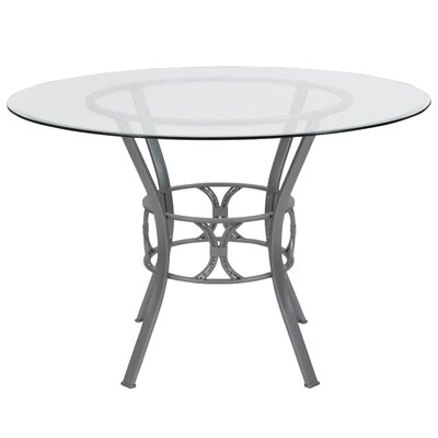 Hardrick Dining Table Base Color: Gray, Size: 29.5 H x 48 W x 48 D