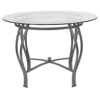 Hardnett Dining Table Base Color: Gray, Size: 29.5 H x 48 W x 48 D