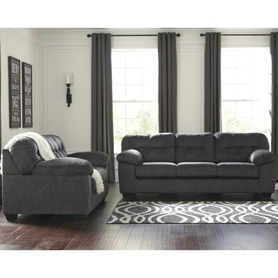 Mccreery 2 Piece Living Room Set Upholstery: Gray