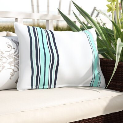 Corbin Outdoor Lumbar Pillow Color: Blue