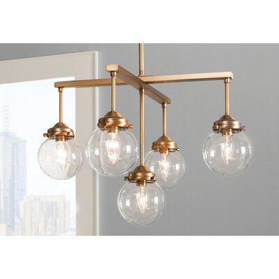 Suffield 5-Light Sputnik Chandelier Finish: Natural Brass