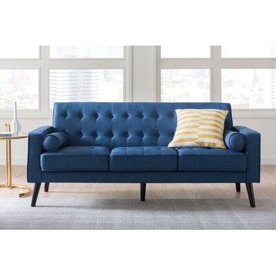 Valadez Mid Century Tufted Sofa Upholstery: Ocean Blue