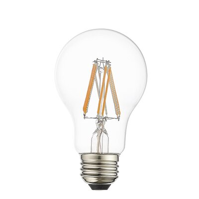 8W Equivalent E26 LED Standard Edison Light Bulb (Set of 10) Bulb Temperature: 2700 K, Dimmable: Yes