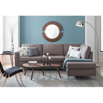 Bickel Sectional Upholstery: Grey